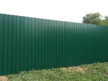 Забор из профлиста 1.5 м