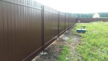 Забор из проф листа цена за погонный метр